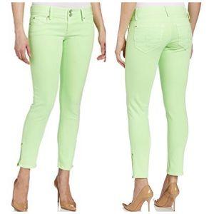Lilly Pulitzer Green Worth Skinny Mini Zip Jeans